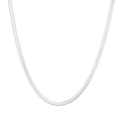 Hepburn Silver Snake Chain Necklace