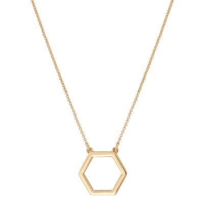 Hera Hexagonal Gold Pendant