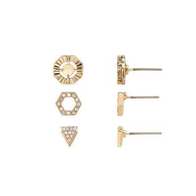 Cora Gold Earring Trio