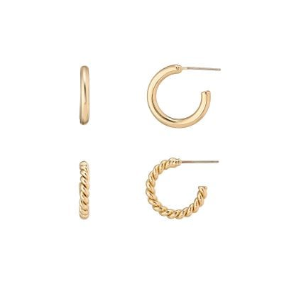 Lucia Gold Hoop Duo