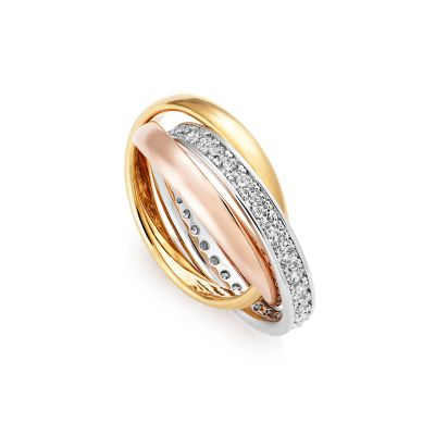 Buckley London Russian Sparkle Trio Ring