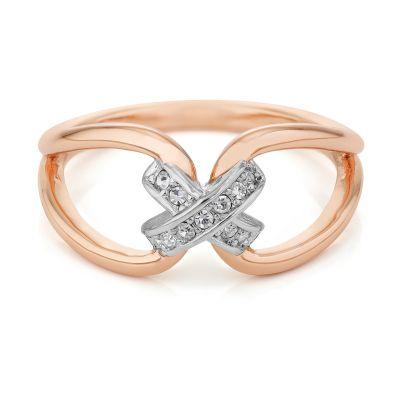 Buckley London Rose Gold Kiss Ring