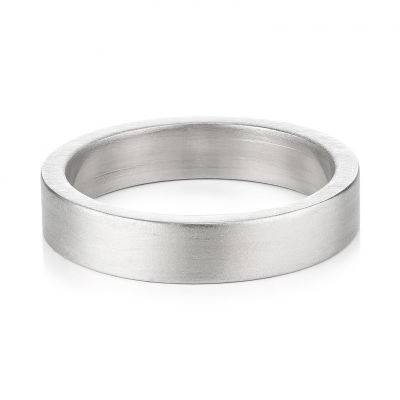Buckley London For Him Harley Brushed Ring - Steel