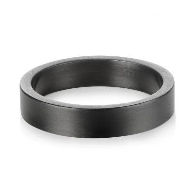 Buckley London Harley Brushed Ring - Hematite