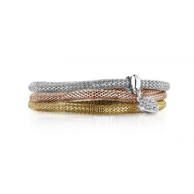 Buckley London XO Mesh Bracelet Trio Set
