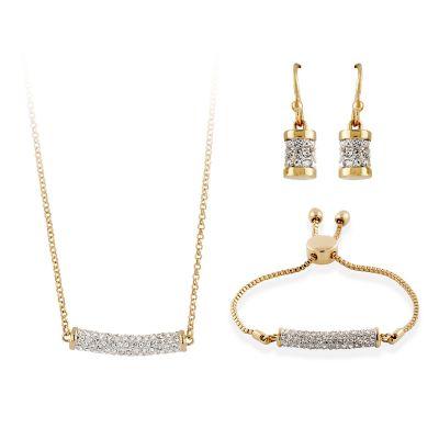 Primrose Gold Pendant, Bracelet and Earring Set
