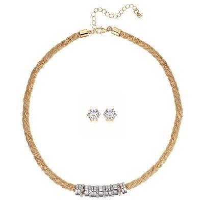 Buckley London Gold Cord & Earring Set