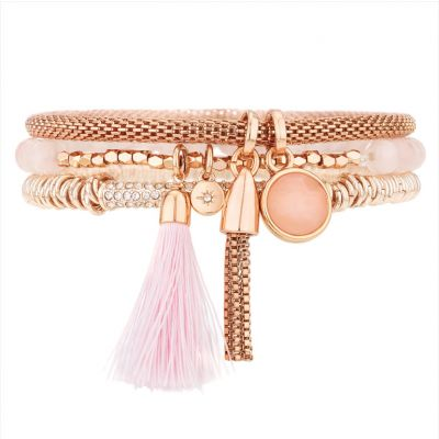 Carnival Bracelet Trio Set - Rose Gold